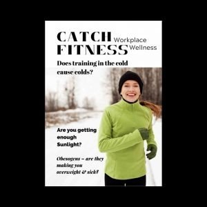 Magazine cover of mag exercising in the cold